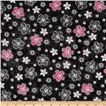 En Vogue Tossed Flower Black