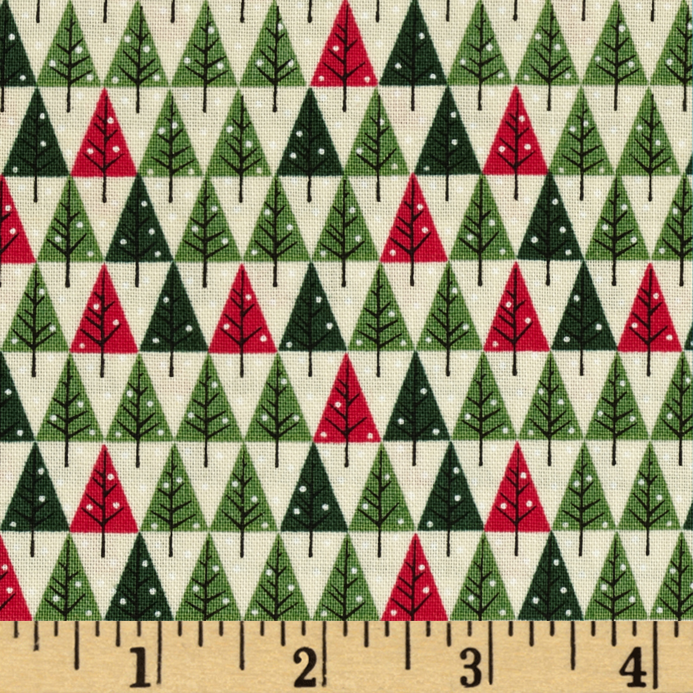 Christmas Mini Tree Cream Fabric