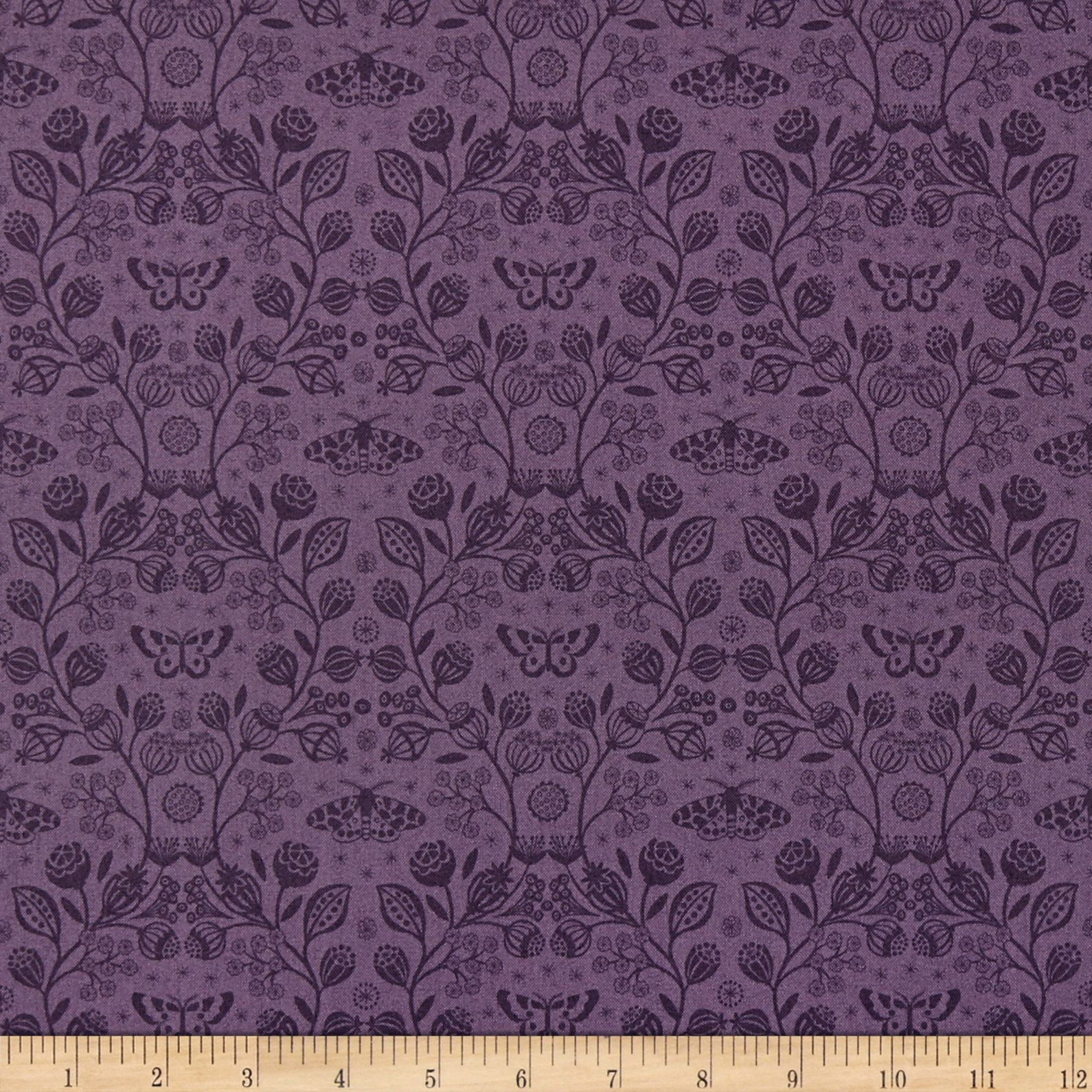 INOpets.com Anything for Pets Parents & Their Pets Lewis & Irene Winter Garden Winter Garden Mono Purple Fabric