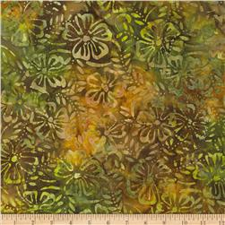 Indonesian Batiks Floral Yellow/Green