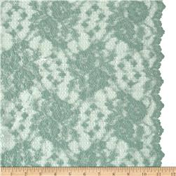 Designer Delicate Lace Mint Black