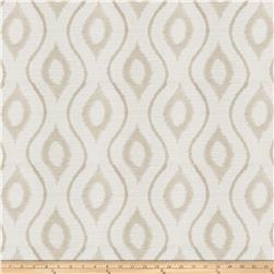 Fabricut Ghoul Embroidered Crepe Ogee Natural
