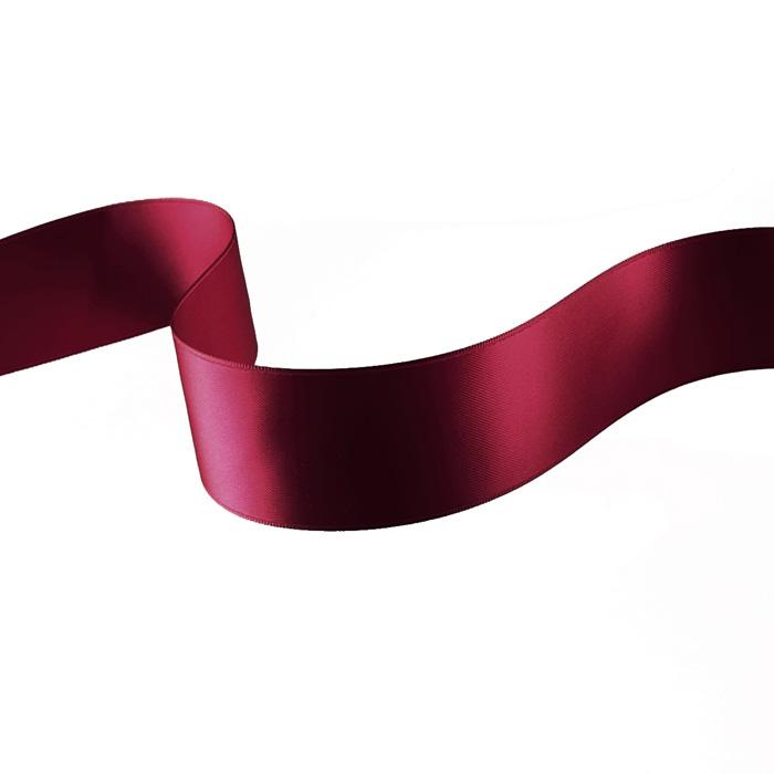 "1 1/2"" Double-sided Satin Ribbon Burgundy"