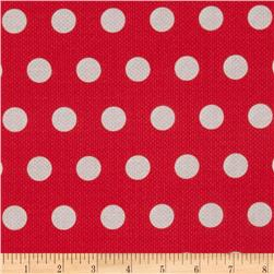 Michael Miller Textured Basics Cool Dots Red
