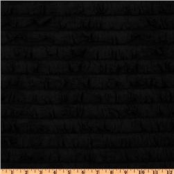 Stretch Ruffle Knit Black