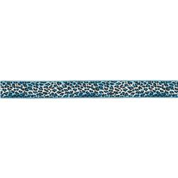 "7/8"" Anna Maria Horner Ombre Leopard Ribbon Blue/Navy"