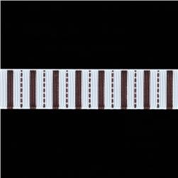 Riley Blake 5/8'' Grosgrain Stripes Ribbon Brown