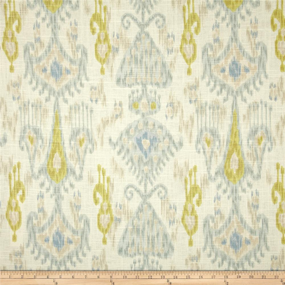 Discount Fabric Robert Allen Upholstery Drapery Graphic Fret Pomegranate EE This beautiful Robert Allen fabric is screen printed on a cotton duck, it is a medium weight fabric that is very versatile.
