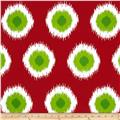 Premier Prints Ikat Domino Christmas Red/Green