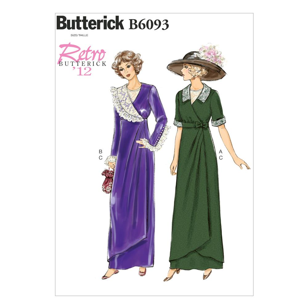 Butterick Misses' Dress, Belt and Bib Pattern B6093