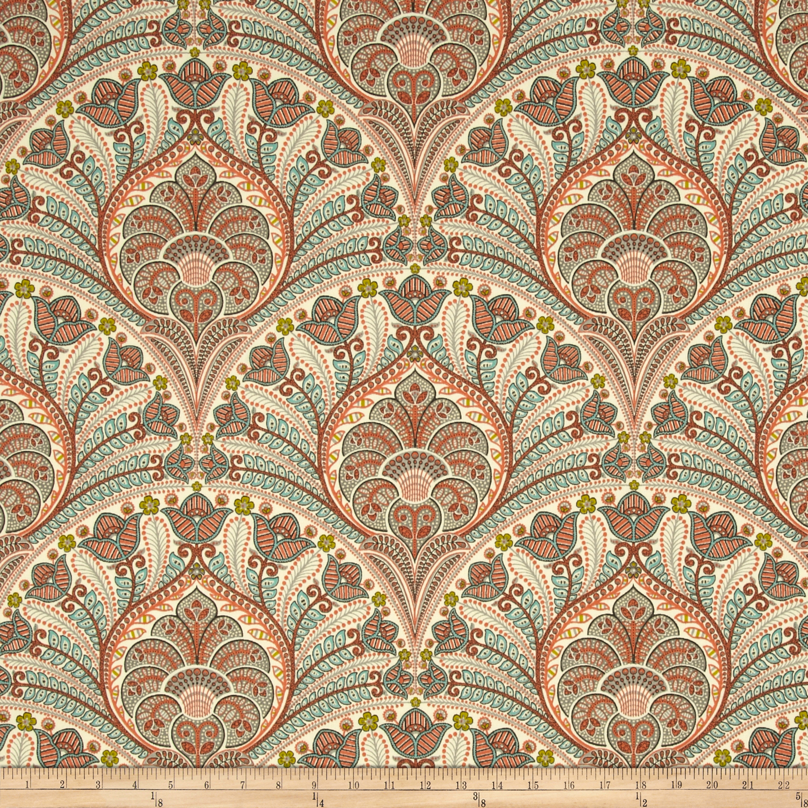 Tommy Bahama Indoor/Outdoor Crescent Beach Coral Fabric by Waverly in USA