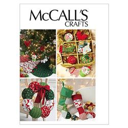 McCall's Ornaments, Wreath, Tree Skirt and Stocking Pattern M6453 Size OSZ