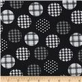 Spotlight Large Patterned Dots Grey/Black