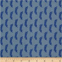 Cotton + Steel Bluebird Leaflet Blue