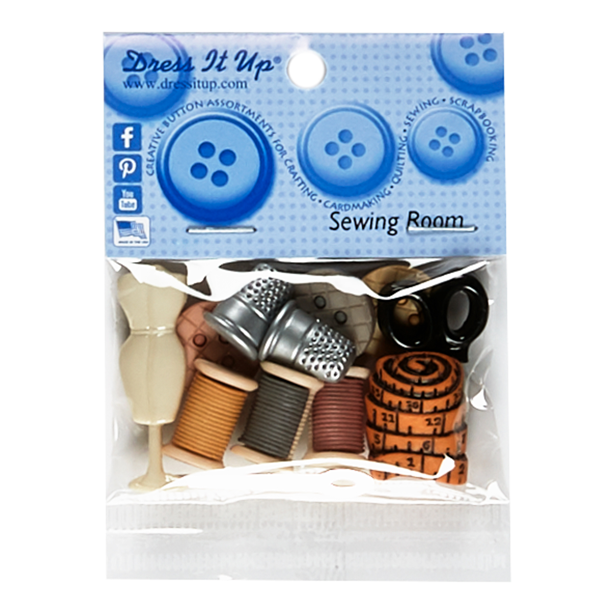 INOpets.com Anything for Pets Parents & Their Pets Sewing Room Button Pack
