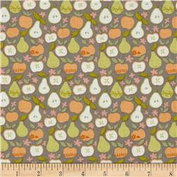 Clementine In the Orchard Taupe Fabric