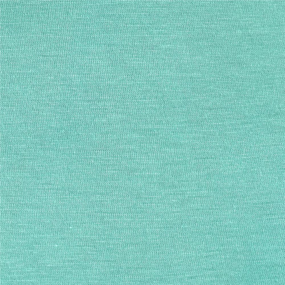 Silky Rayon Jersey Knit Solid Aqua Fabric By The Yard