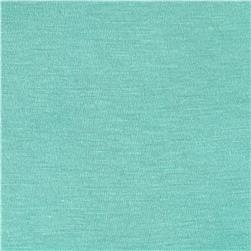 Silky Rayon Jersey Knit Solid Aqua