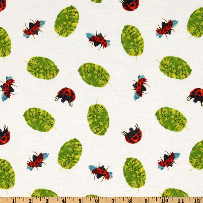 The Grouchy Ladybug Ladybugs & Leaves White