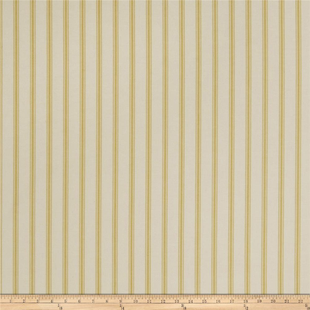 Jaclyn Smith Cassette Ticking Stripe Lemon Zest
