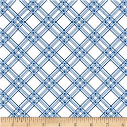 Maywood Studio Kimberbell Basics Diagonal Plaid Blue
