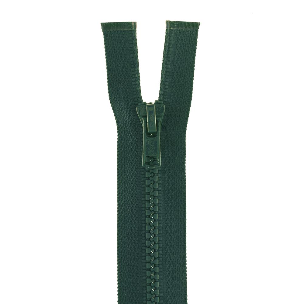 "Coats & Clark Medium Weight Molded Separating Zipper 12"" Forest Green"