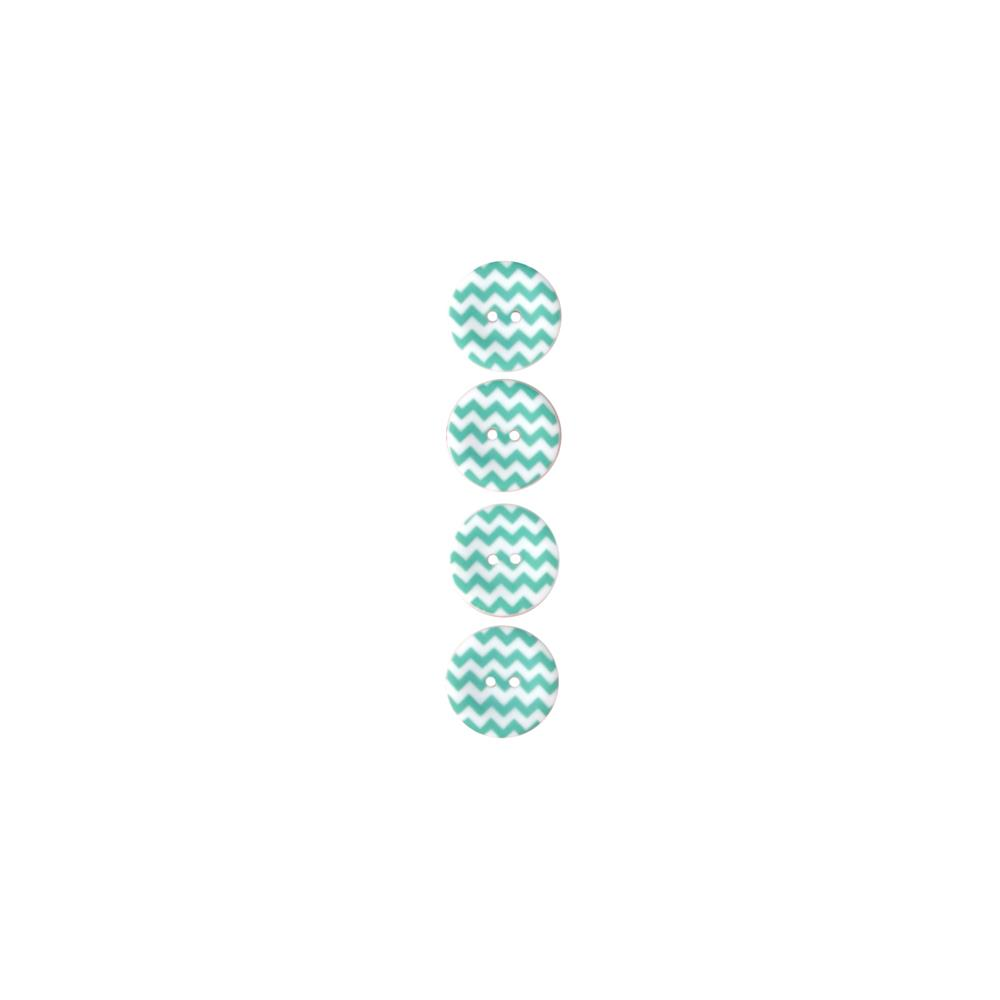 "Riley Blake Sew Together 1"" Matte Button Chevron Aqua"