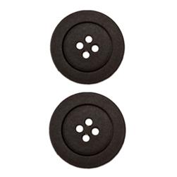Fashion Button 7/8'' Cheyenne Black