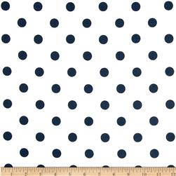 Premier Prints Polka Dots White/Navy