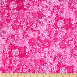 Packed Floral Tonal Fuchsia