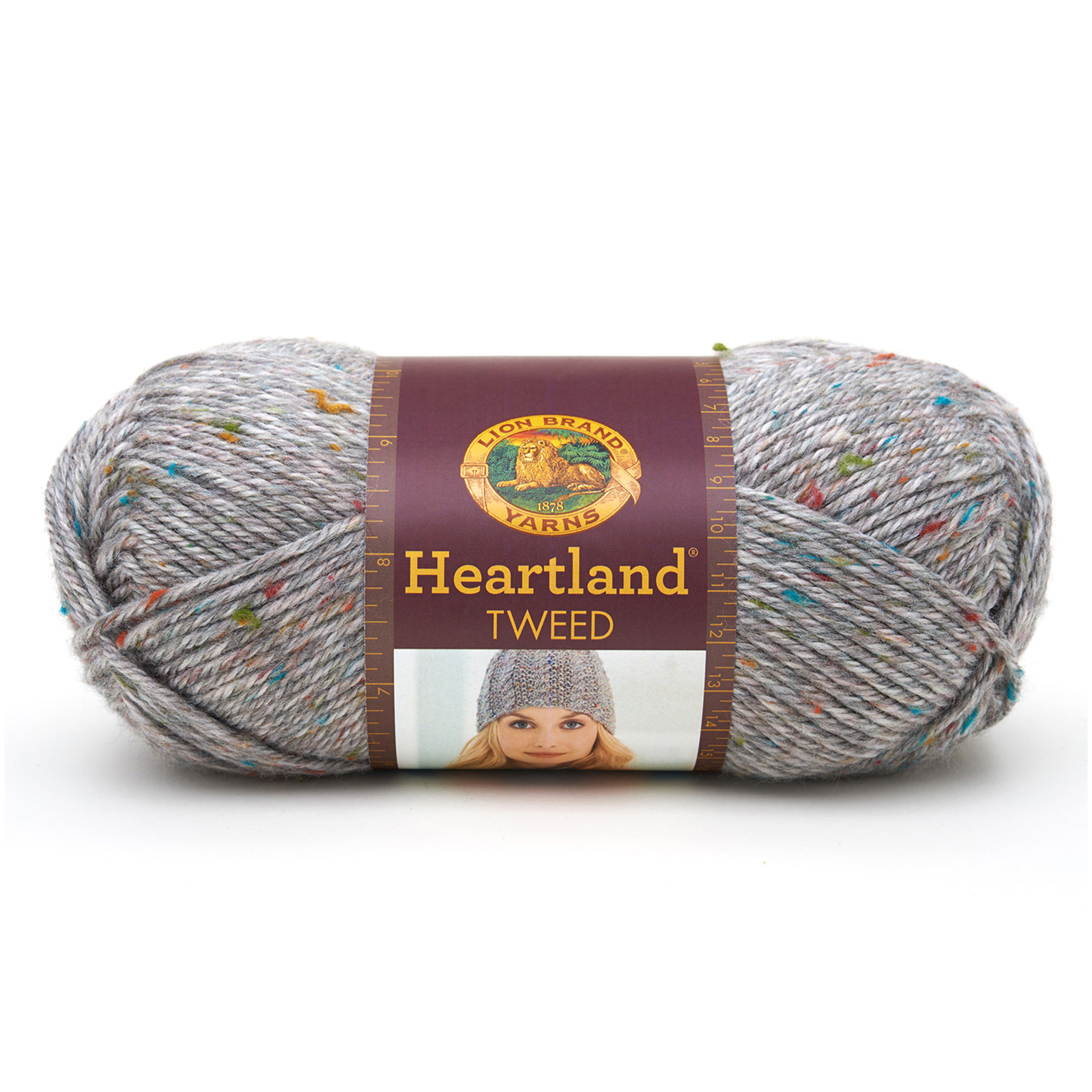 Lion Brand Heartland Yarn Mount Rainier Tweed