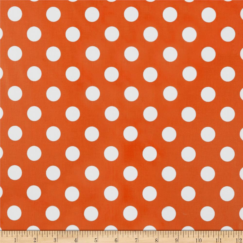 Riley Blake Laminated Cotton Medium Dots Orange/White