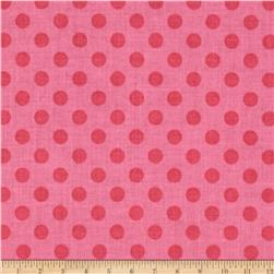 Riley Blake Basics Small Dots Hot Pink