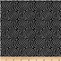 Timeless Treasures Kinfolk Spiral Maze Black