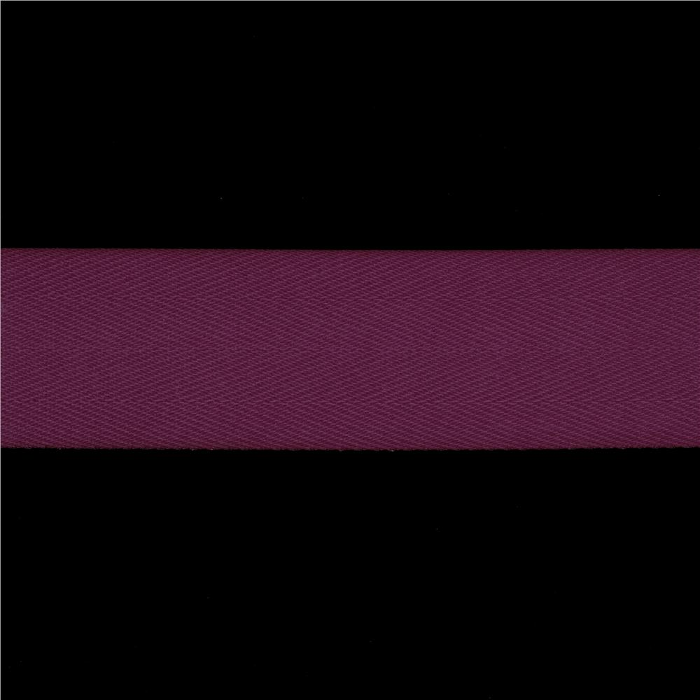 1 1/2'' Twill Tape Ribbon Burgundy