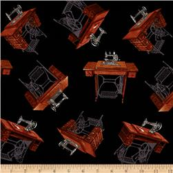 A Stitch in Time Sewing Machine Black