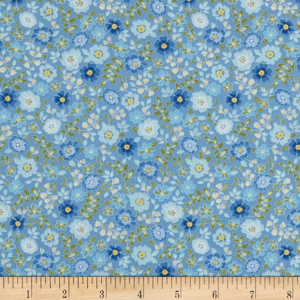 INOpets.com Anything for Pets Parents & Their Pets In The Beginning Fabrics Garden Delights II Garden Blooms Periwinkle