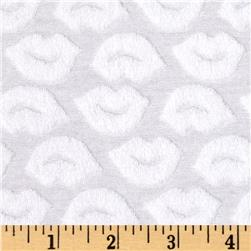 Stretch Cotton Blend Knit Terry Cloth Embossed Lips