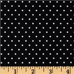 Moda Shades Of Black Dotted Swiss Black