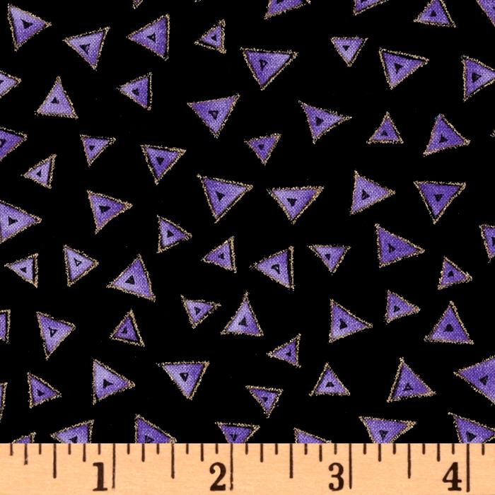 Laurel Burch Basics Triangle Black/Purple