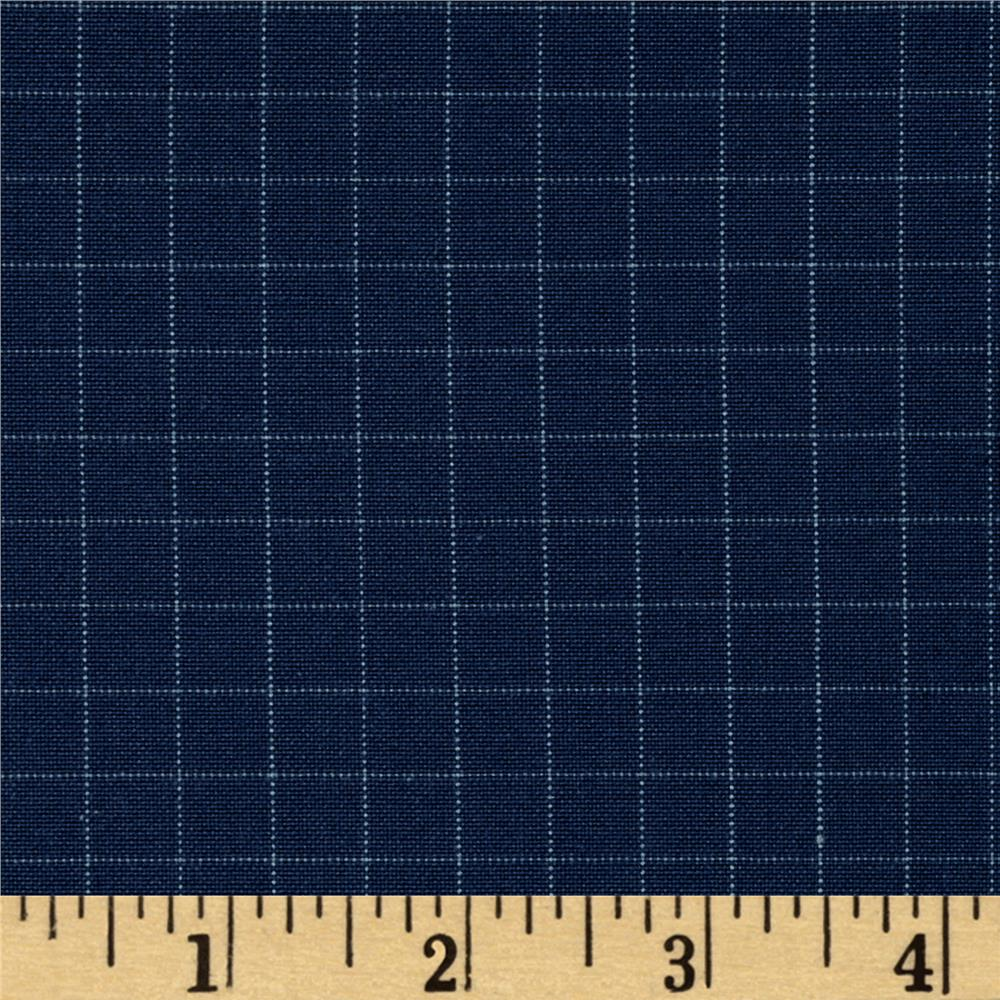 Kaufman Studio Stash Yarn Dye Large Check Navy
