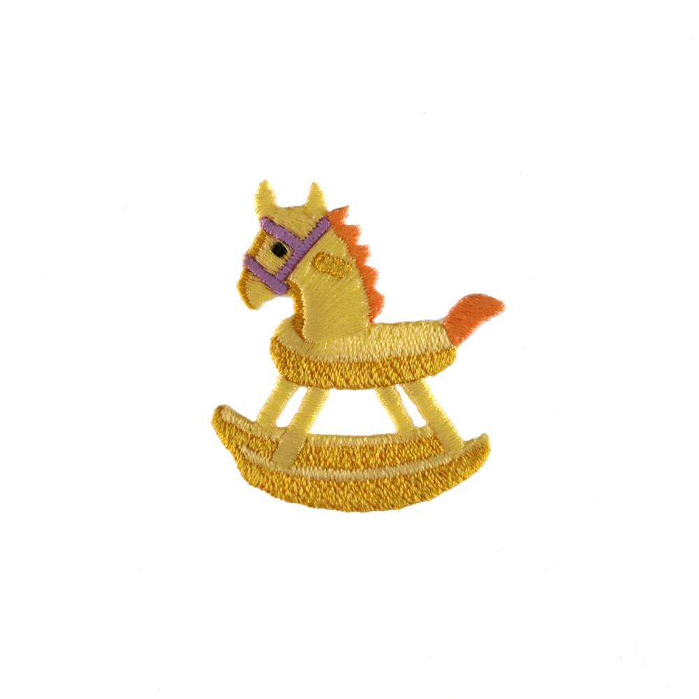 Rocking Horse Applique Yellow