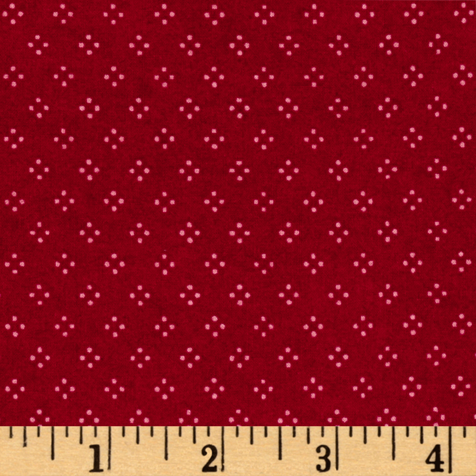 Christmas Wishes Dot Light Red Fabric By The Yard