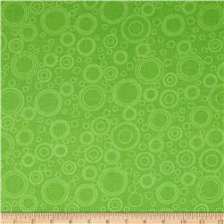 Lazy Little Ladybugs Circle Geometric Green