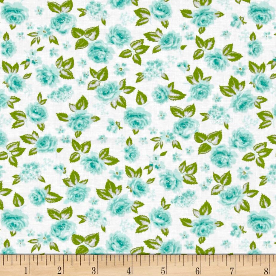 Moda sew sew garden berrylicious cream discount for Cheap sewing fabric