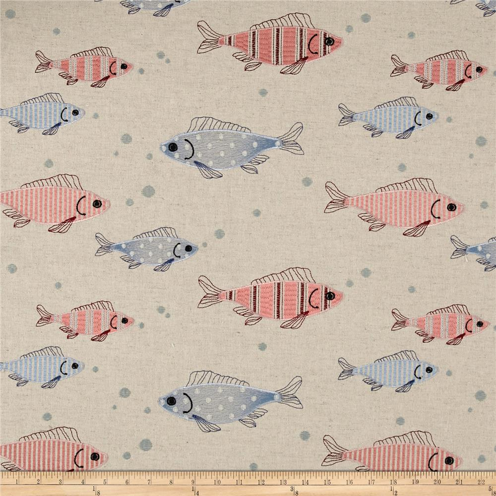 Golding by P Kaufmann Fish Tales Multi/Linen