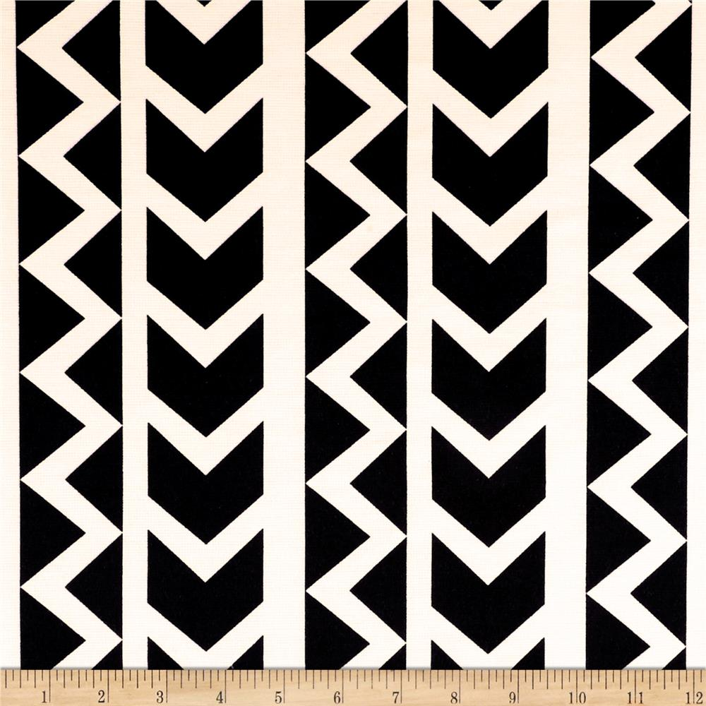 Ponte de Roma Zig Zag Arrow Stripe Black/White