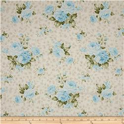 Kaufman Anna Large Flower Blue