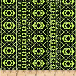 ITY Knit Aztec Lime Green