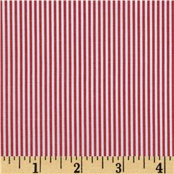 Wide Crease Resistant Pima Stripe Red